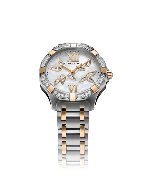 Concord | Saratoga Women's 31mm Two toned Stainless Steel Watch with Mother of Pearl Dial and Diamonds