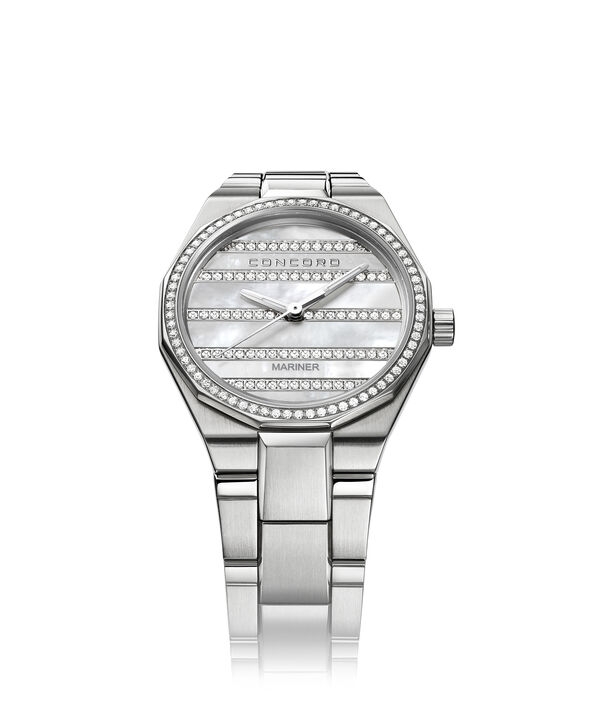 Concord | Women's Mariner Quartz Watch, white Mother of Pearl dial with diamonds