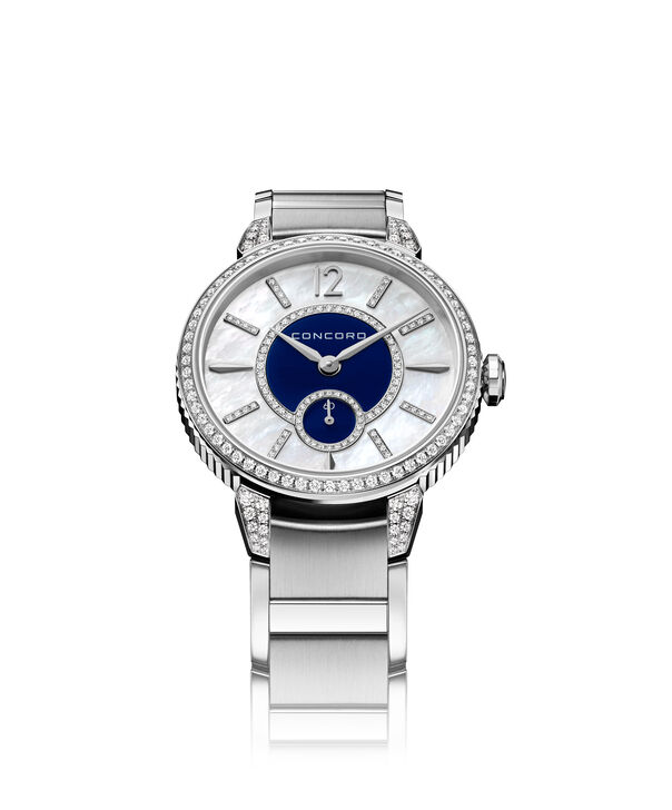 Concord| Women's Impresario Stainless Steel Watch with Blue Dial Watch and Diamonds