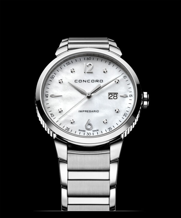 Concord| Men's Impresario 41mm Stainless Steel and Mother of Pearl Watch