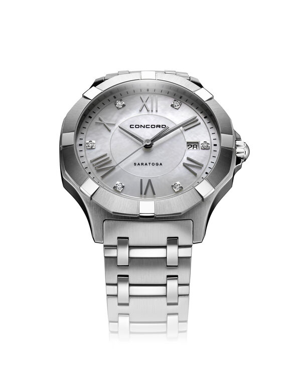 Concord | Gents' Saratoga Quartz, 40mm, Steel, Mother-Of-Pearl Dial
